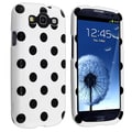 BasAcc White/ Black Polka Dots Case for Samsung Galaxy S III i9300