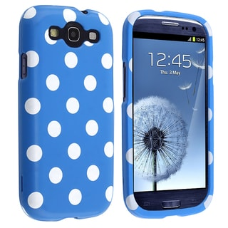 BasAcc Light Blue/ White Polka Dot Case for Samsung Galaxy S III i9300