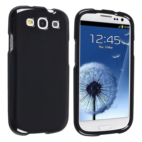 INSTEN Black Slim Snap-on Phone Case Cover for Samsung Galaxy S III i9300