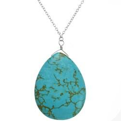Ashanti Turquoise Pendant with 18-inch Chain (Sri Lanka)