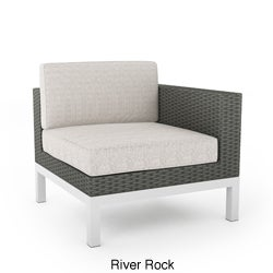Sonax L-104-GBP Beach Grove L Chair in River Rock Weave