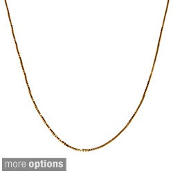 Fremada 10k Pink, White or Yellow Gold Box Chain (18-inch)