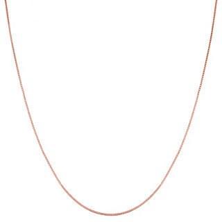 Fremada 14k Pink Gold Box Chain (16-20-inch)