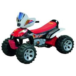 Trail Master Red 6 Volt Battery Operated ATV Ride-on