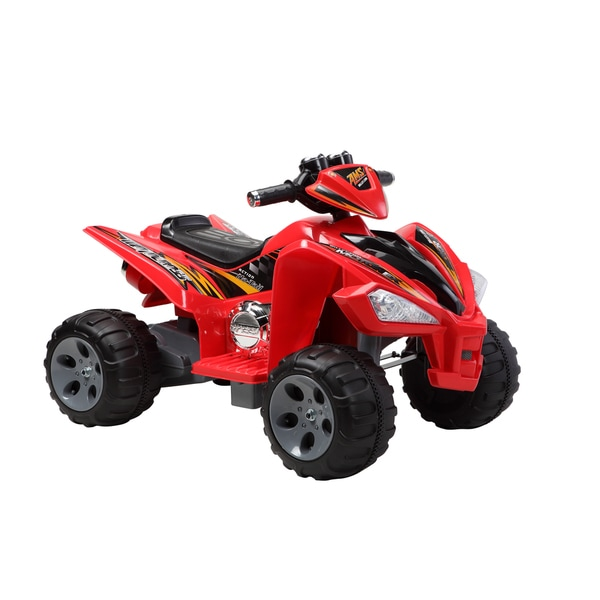 Quad Red 12 Volt Battery Operated Ride-on
