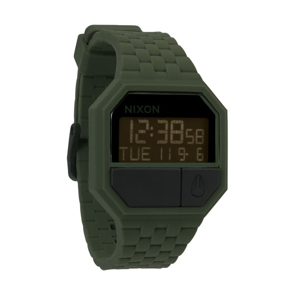 Nixon Men's Rubber Re-Run Matte Black/ Surplus Watch