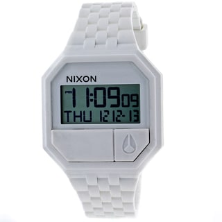Nixon Men's Rubber Re-Run White Watch
