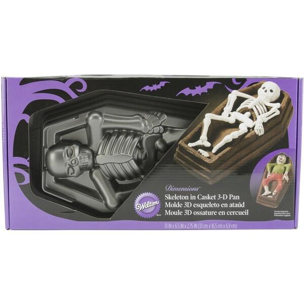 WIlton Cake Pan 3D-Skeleton Casket
