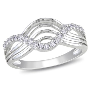 Miadora 10k White Gold 1/5ct TDW Round-cut Diamond Ring (H-I, I2-I3)