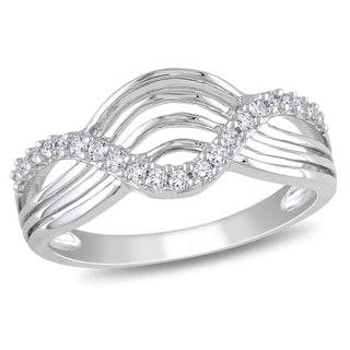 Miadora 10k White Gold 1/5ct TDW Round-cut Diamond Ring (H-I, I2-I3)