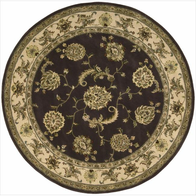 Nourison 2000 Hand-tufted Kashan Lavender Rug (6' Round)