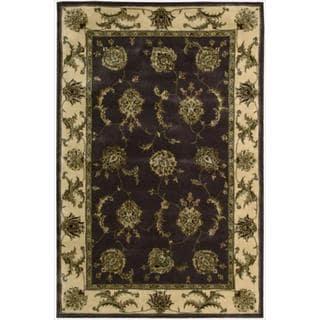 Nourison 2000 Hand-tufted Kashan Lavender Rug (3'9 x 5'9)