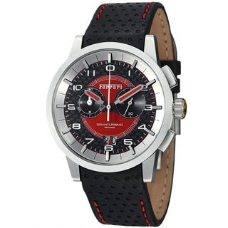 Ferrari Men's FE-11-ACC-CP-FC 'Granturismo' Black Dial Leather Strap Chronograph Watch