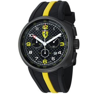 Ferrari Men's 'Fast Lap' Black Dial Black Strap Chronograph Watch