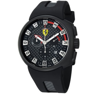 Ferrari Men's FE-10-IPB-CG/FC-FC 'Podium' Black Dial Chronograph Quartz Strap Watch