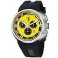 Ferrari Men's 'Podium' Yellow Dial Black Rubber Strap Quartz Watch