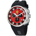 Ferrari Men's FE-10-ACC-CG/FC-RD 'Podium' Red Dial Black Rubber Strap Chronograph Watch