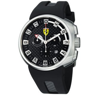 Ferrari Men's FE-10-ACC-CG/FC-FC 'Podium' Black Fiber Dial Chronograph Quartz Watch