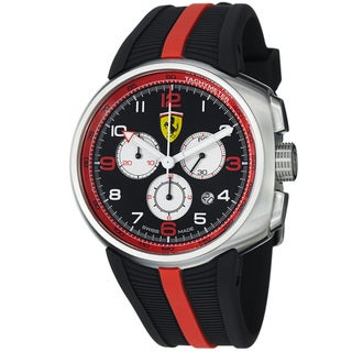 Ferrari Men's FE-10-ACC-CG-BK 'Fast Lap' Black Dial Black Rubber Strap Quartz Watch