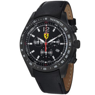 Ferrari Men's 'Scuderia' Black Dial Chronograph Quartz Watch