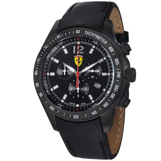Ferrari Men's FE-07-IPB-CP-BK 'Scuderia' Black Dial Chronograph Quartz Watch