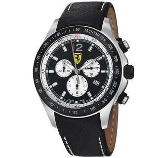 Ferrari Men's FE-07-ACIP-CP-BK 'Scuderia' Black Dial Black Strap Chronograph Watch