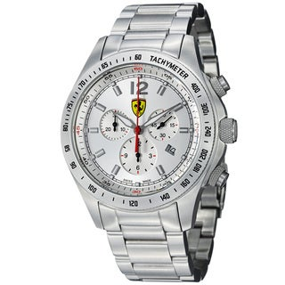 Ferrari Men's 'Scuderia' Silver Dial Stainless Steel Chronograph Watch