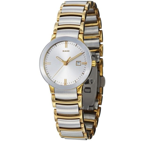 Rado Women's 'Centrix' Two Tone Stainless Steel Quartz Watch