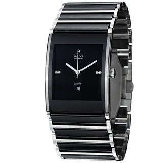 Rado Men's R20852702 'Integral' Black Diamond Dial Black Ceramic Automatic Watch