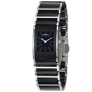 Rado Women's 'Integral' Black Dial Stainless Steel Ceramic Watch