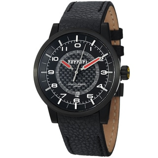 Ferrari Men's 'Granturismo' Black Dial Black Strap Automatic Watch