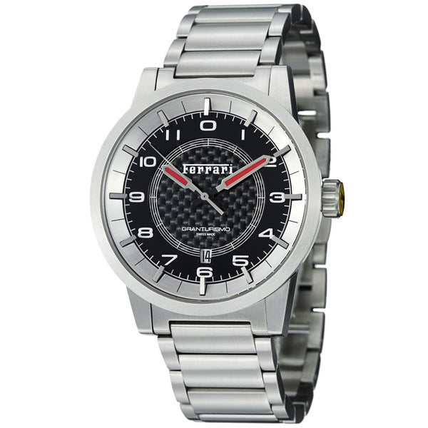 Ferrari Men's FE-12-ACC-CM-BK 'Granturismo' Black Dial Stainless Steel Automatic Watch