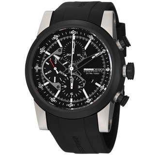 Momo Design Men's 'Composito' Black Dial Black Rubber Strap Watch