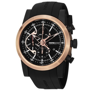 Momo Design Classic Men's 'Composito' Black Dial Rubber Strap Automatic Watch