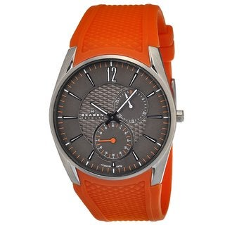 Skagen Women's Titanium Orange Silicone Strap Watch