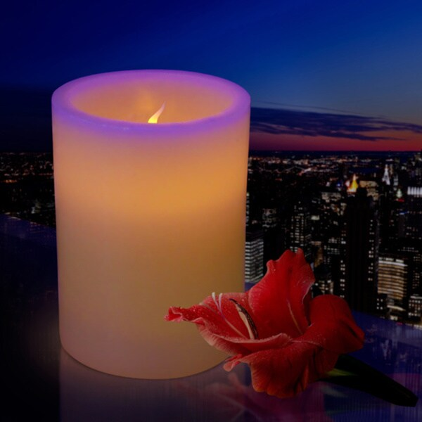 Flameless Pillar Candle with Flickering LED (Pack of 12)