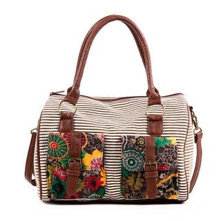 Nikky Jocie Flowers Stripes Boston Bag