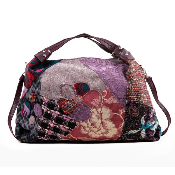 Nikky Aberdine Patchwork Hobo Bag