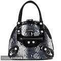 Nicole Lee Catava Python Print Bowler Bag