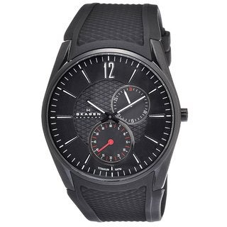 Skagen Men's Titanium Black Silicone Watch