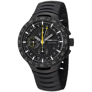 Momo Design Men's 'Master Racer' Black-Dial Chronograph Titanium Bracelet Watch