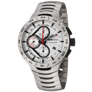 Momo Design Men's 'Master Racer' Silver Dial Titanium Automatic Watch