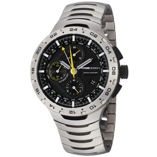 Momo Design Men's 'Master Racer' Black Dial Chronograph Titanium Watch