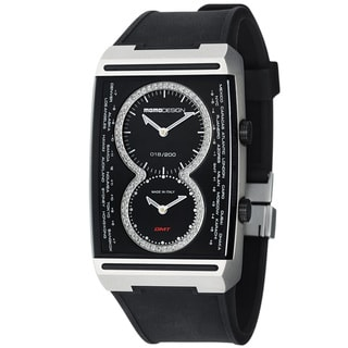 Momo Design Men's 'Dual Tech' Black Dial Black Rubber Strap Watch