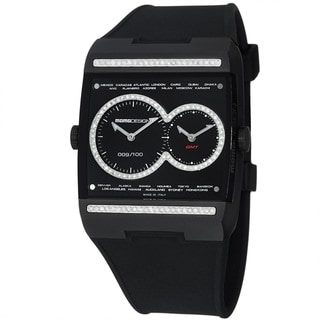 Momo Design Men's 'Dual Tech' Black Diamond Dial Titanium Quartz watch