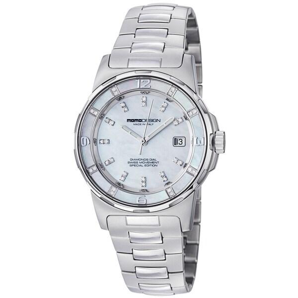 Momo Design Women's MD093-E-02SL-MB 'Pilot Lady' Mother of Pearl Dial Bracelet Watch