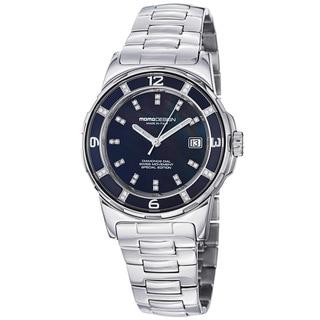 Momo Design Women's MD093-E-01BK-MB 'Pilot Lady' Black Dial Stainless Steel Watch