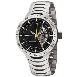 Momo Design Men's 'Master Racer' Black GMT Dial Titanium Watch