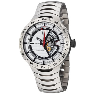 Momo Design Men's 'Master Racer' Silver GMT Dial Titanium Watch