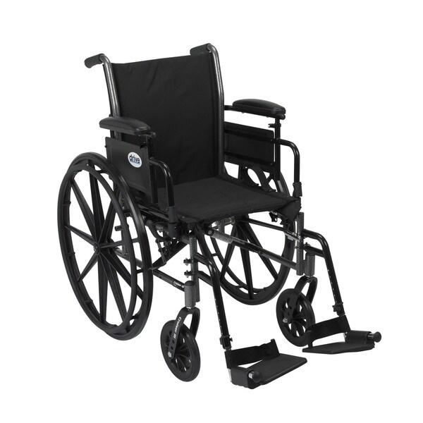 Drive Medical K318ADDA-SF Cruiser III 18-inch Lightweight Dual Axle Wheelchair